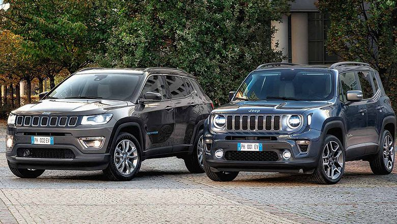 Jeep Renegade 4xe und Jeep Compass 4xe mit Plug-in-Hybrid